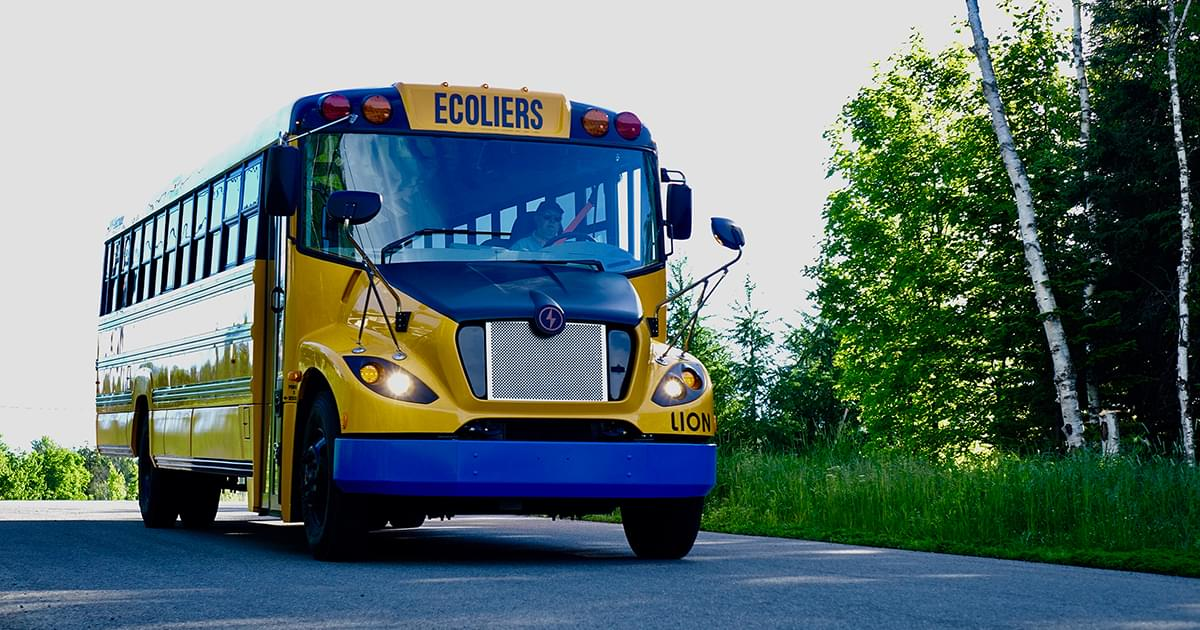 The Lion Electric Co Electric School Bus